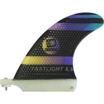 "3D Fastlight Single Fin 4.5"" Blk/Pur Fade"