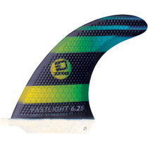 "3D Fastlight Single Fin 6.25"" Blk/Grn Fade"