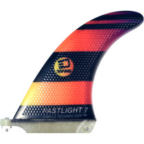 "3D Fastlight Single Fin 7.0"" Blk/Org Fade"