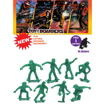 Toy Boarders Skate Pro Series I Figures Green 16Pc