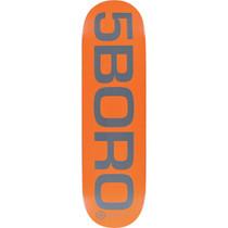 5Boro Ext Logo Deck-8.5 Orange/Grey