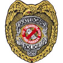 "Pwl/P Skateboard Police Patch 3.5"""