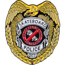 Pwl/P Skateboard Police Lapel Pin Single