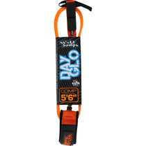 "Sb Day-Glo Comp 5'6"" Leash Orange"