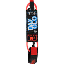 Sb Day-Glo Grom 5' Leash Red