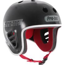 Protec Fullcut Black Gloss/Grey-S Helmet