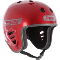 Protec Fullcut Red Metal Flake-M Helmet