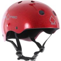 Protec Classic Red Flake-S Helmet