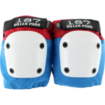187 Fly Knee Pads S-Red/Wht/Blu W/Wht
