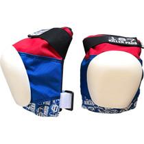 187 Pro Knee Pads M-Red/Wht/Blu