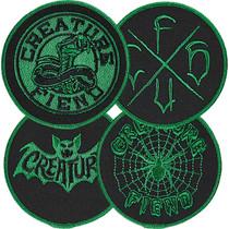 Creature Fiend Club 4Pc Patch Set Blk/Grn