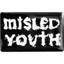 Zero Misled Youth Enamel Pin Blk/Wht