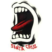 "Santa Cruz Screaming Mouth Decal 3.5""X2.25"""