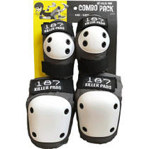 187 Combo Pack Knee/Elbow Pad Set L/Xl-Grey