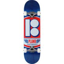 Plan B Quart Complete-8.0 Blu/Red/Wht