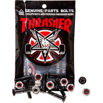 "Inde/Thrasher Bolts 7/8"" Phillips Blk/Sil 1Set"