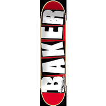 Baker Brand Logo Mini Deck-7.3 Red/Wht