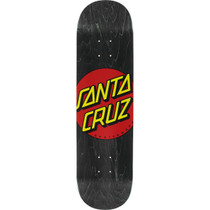 Santa Cruz Classic Dot Wide Tip Deck-8.37 Blk/Red/Yel