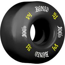 Bones 100'S Og #12 V4 51Mm Black W/Yel/Wht Ppp