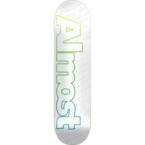 Alm Faded Outline Deck-7.75 White Ppp