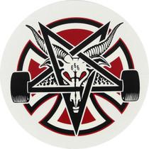 "Inde Pentagram Cross Decal 5"""