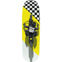 Pwl/P Cab Flat Track Fs Deck-8.7X31.72 Wht/Yel/Blk