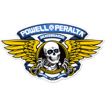 "Pwl/P Winged Ripper Die-Cut 5"" Blue Decal"