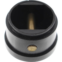 Leash Cup Micro Plug Black W/ Brass Pin