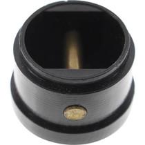 Leash Cup Micro Plug Black W/ Brass Pin