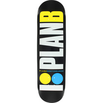 Plan B Og Neon Deck-8.25 Blk/Wht/Yel/Blu