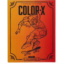 Color X 1St Edition Skateboarding Coloring Book