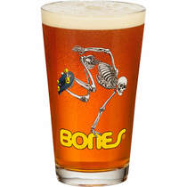 Pwl/P Skateboarding Skeleton Pint Glass