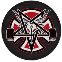 Inde Pentagram Cross Adhesive Back Patch