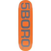 5Boro Ext Logo Deck-8.37 Orange/Grey