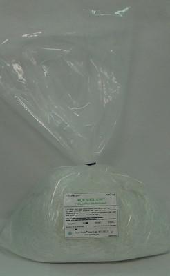 Chopped Aqua-Glass 1 inch - 1 lb