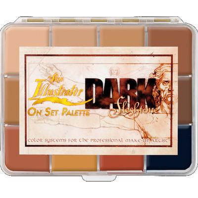 Skin Illustrator On Set Dark Flesh Palette