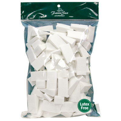 Fantasea Latex-Free Foam Wedges 100/Count