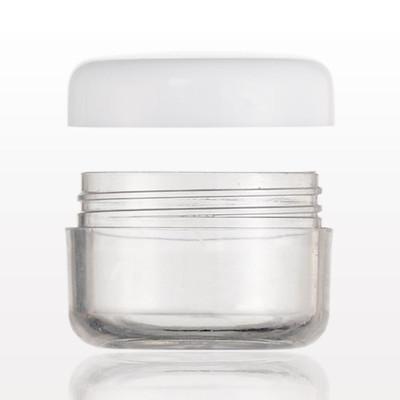 Jar - Clear w/ White Lid 5ml