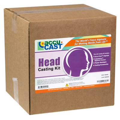 Head Casting Kit from Accu-Cast is the only kit of its kind on the market, and it is essential to anyone who wants to move from simple lifecasting to more complex procedures.