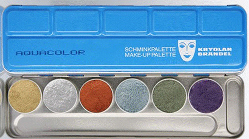 Aquacolor 6 Color Palette Art. 1117 Metallic