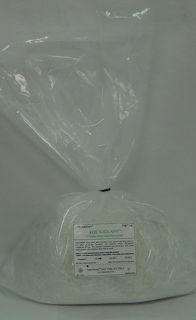 Chopped Aqua-Glass 1 inch - 1 lb
