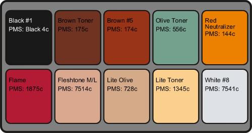 Reel Creations Fleshtone Palette