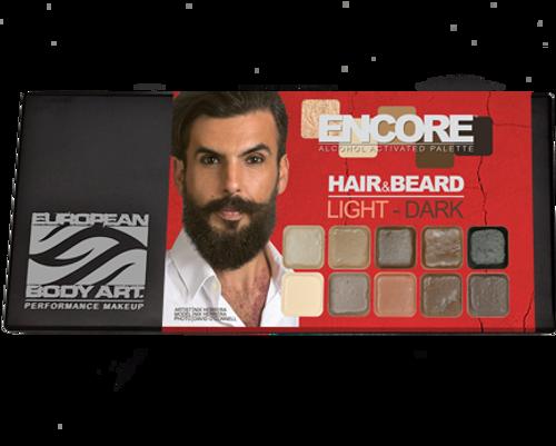 Encore Hair & Beard Light to Dark Palette
