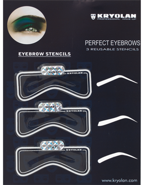 Kryolan Eyebrow Stencil Set #1 - Art 3063