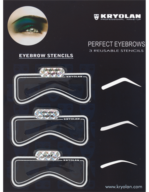 Kryolan Eyebrow Stencil Set #2 - Art 3063