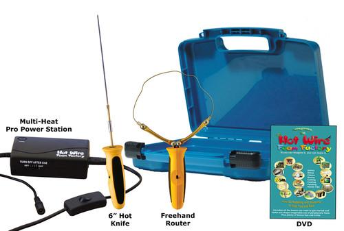 "HWFF Pro 6"" Hot Knife & Freehand Router Kit - K44P6"