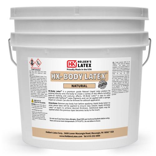 One gallon of liquid latex body paint.