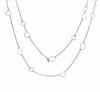 Long Pebble Necklace Gunmetal