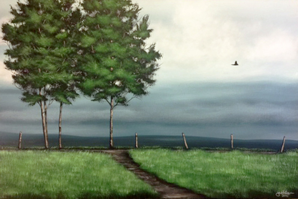 """TOP OF THE HILL II"" ACRYLIC PAINTING (SOLD)"