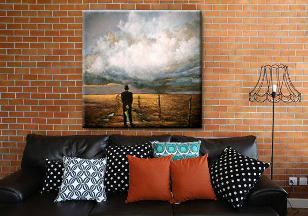 """""""CHANCE"""" Hand Embellished Canvas Print"""